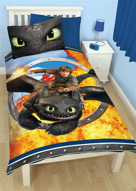 How To Train Your Dragon Toothless Single Duvet Quilt Cover Reversible Bedding Ebay