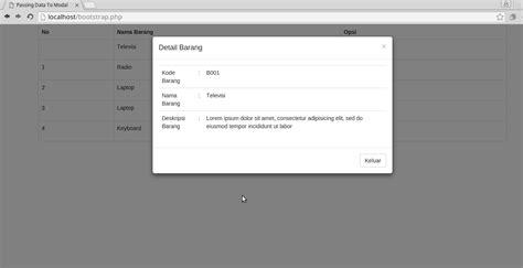 tutorial bootstrap dialog tutorial cara menilkan data dinamis kedalam modal