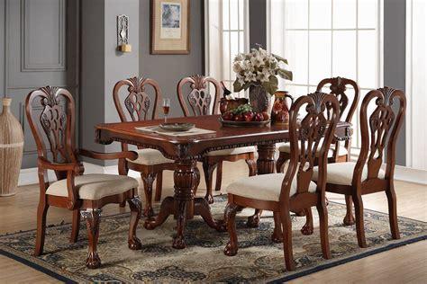 piece formal dining set wooden dining room