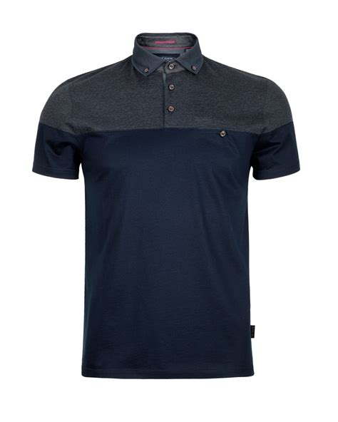Printed Shirt 2 ted baker blue wookpol panel printed polo shirt for