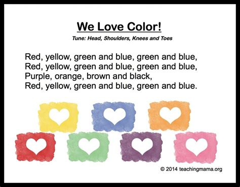 the song colors 10 preschool songs about colors montessori activities
