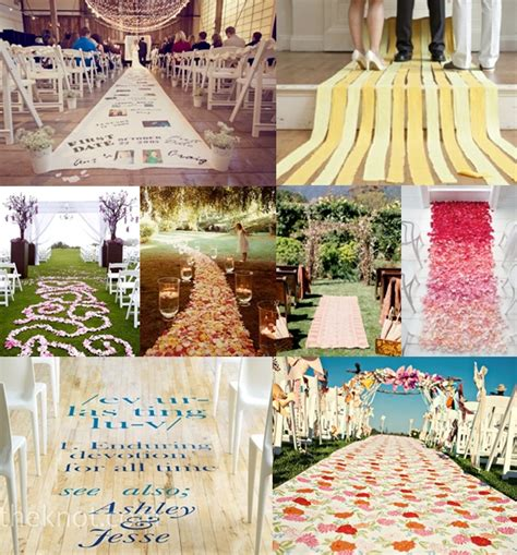 wedding diy aisle runner ideas