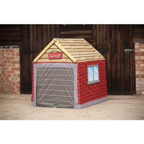 garage toy storage garage style ride on car protection storage play tent
