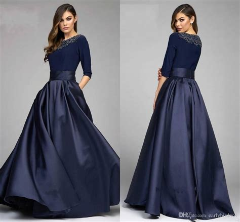 cocktail dress for bride malaysia modest 3 4 sleeve mother of the bride dress satin beaded