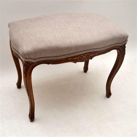 antique walnut upholstered stool antiques atlas