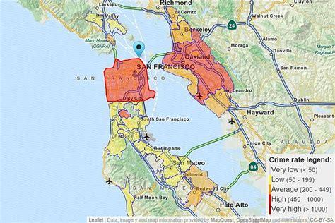 san francisco safety map crime map san francisco bay area michigan map