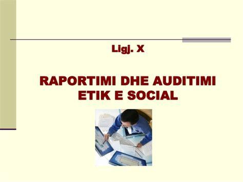 audi si鑒e social raportimi dhe auditimi etik e social