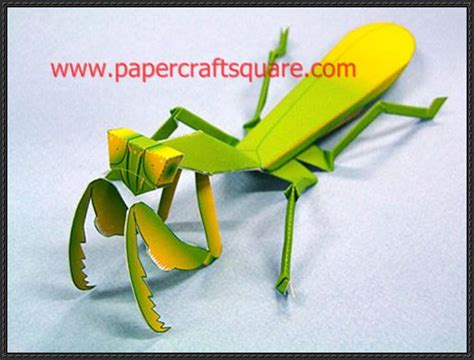 How To Make A Paper Insect - praying mantis origami