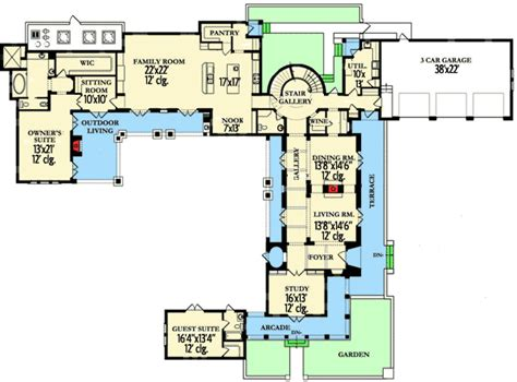 spanish revival floor plans stunning spanish revival house plan 82004ka 1st floor