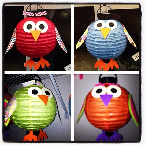 Paper Lanterns Craft Ideas - paper lantern owl owl craft arts and crafts