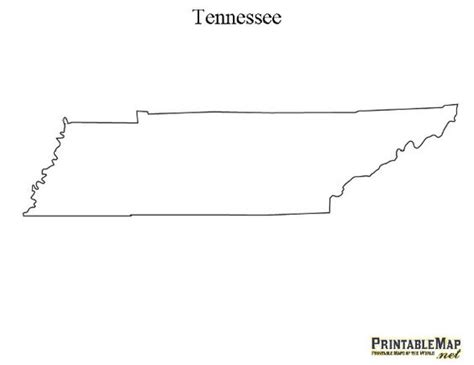 Tennessee Outline Map tennessee printable maps and the o jays on