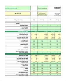 data analysis excel template sle data analysis excel 7 exles in excel