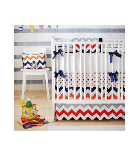 Zig Zag Crib Bedding Set New Arrivals Zig Zag Rugby 4 Baby Crib Bedding Set