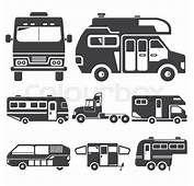 RV Camping Car Icons  Stock Vector Colourbox
