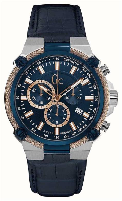 gc mens cableforce chronograph blue y24001g7
