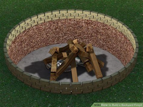 how to build a backyard firepit 4 ways to build a backyard firepit wikihow