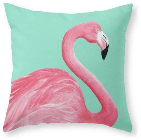 Pink Flamingo Pillow by Shop Houzz Society6 Pink Flamingo Throw Pillow