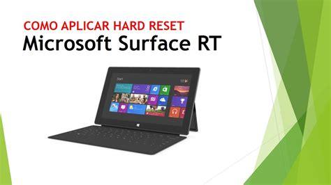 resetting windows surface hard reset tablet surface de microsoft youtube