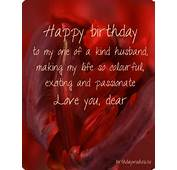 Birthday Image With Message For Husband  Cards