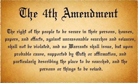 Search Warrant Constitution Fourth Amendment