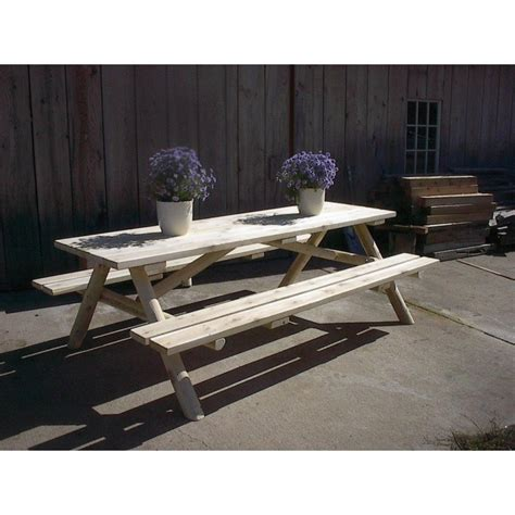 white cedar log bench white cedar log picnic table attached benches