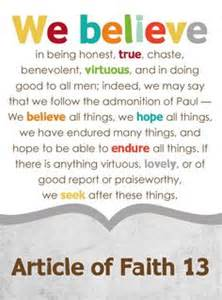 lds 13 articles of faith on pinterest