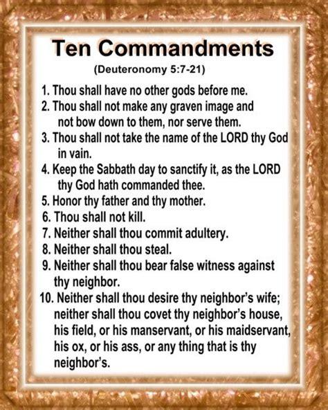 printable version ten commandments catholic best 25 ten commandments list ideas on pinterest ten