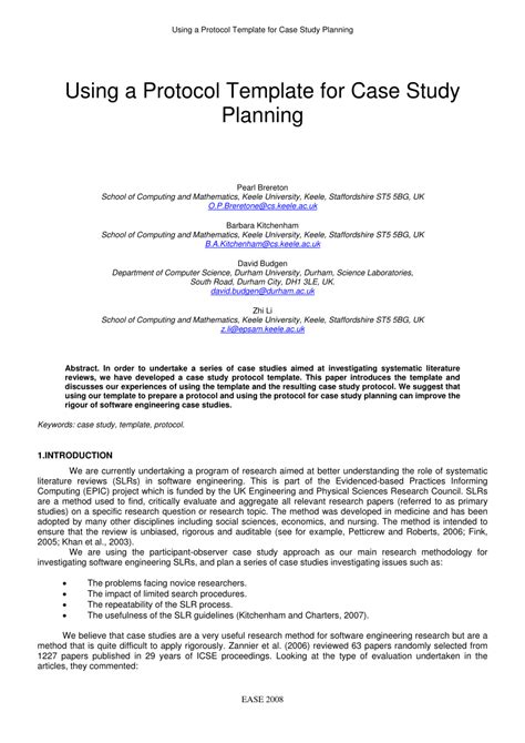 pdf using a protocol template for study planning