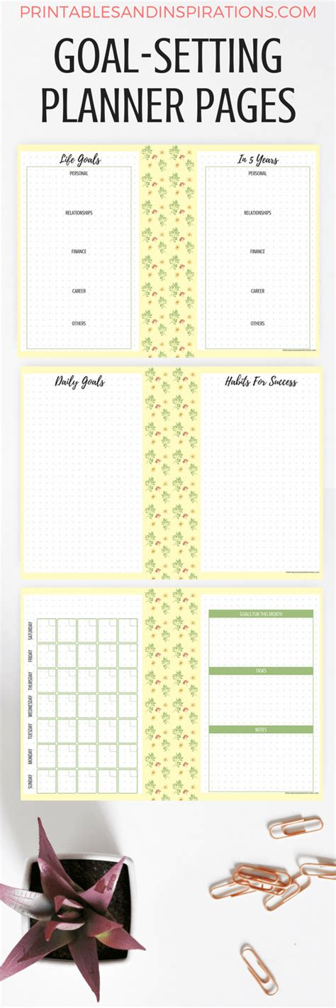 free printable goal planner 2018 goal setting pages and 2018 calendar for success free