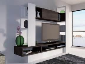 mur tv octavo avec rangements blanc weng 233 blanc ch 234 ne