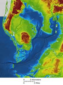 florida elevation map high resolution map merges ta bay bathymetry and topography