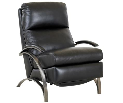 Contemporary European Leather Recliner Chair W Steel