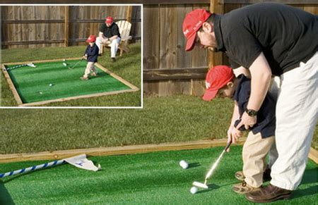 build your own backyard putting green toolmonger