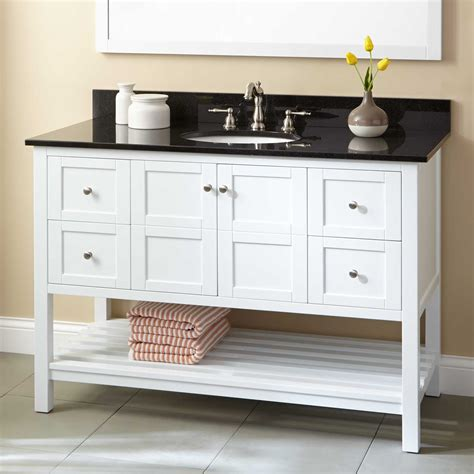 48 quot everett vanity for undermount sink white bathroom