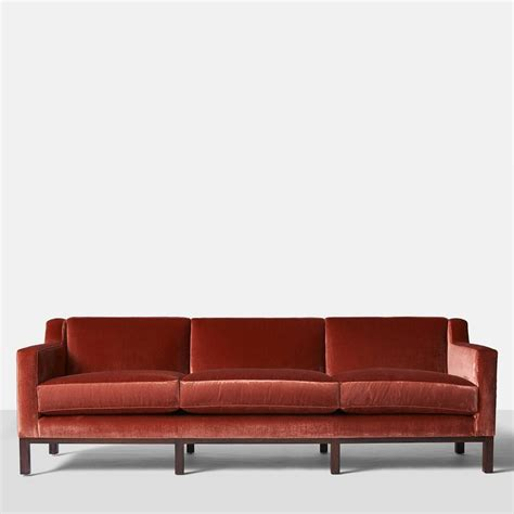 Curved Back Sofas Edward Wormley For Dunbar Curved Back Sofa For Sale At 1stdibs