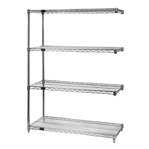 Small Metal Shelving Unit Small 74 Quot Q Stor Chrome Wire Shelving Add On Unit Wayfair