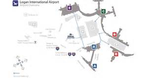 Boston Terminal Map by Hilton Boston Ma Airport Hotel Getting Around