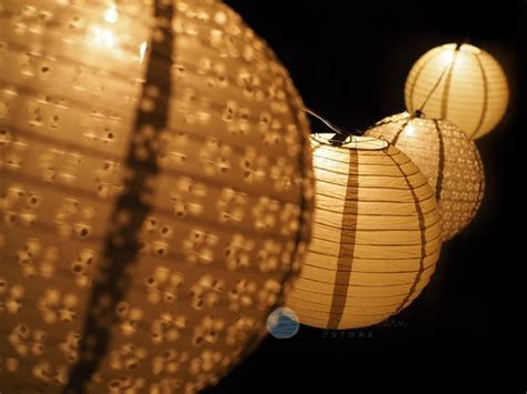 How To Make Paper Lantern String Lights - gold eyelet paper lantern string light