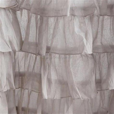 grey shabby chic curtains shabby cottage chic dreamy french ruffled lilac grey