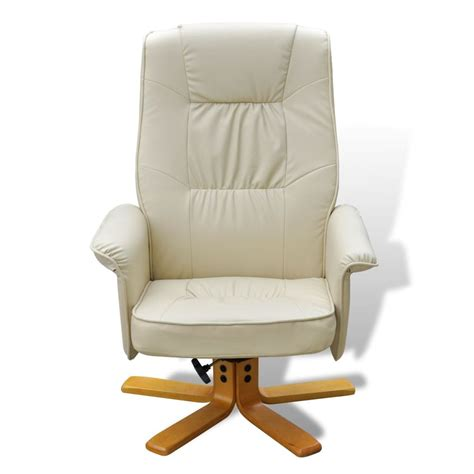 white tv armchair recliner artificial leather with