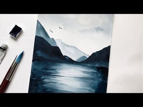 watercolor lake tutorial mountain lake watercolor tutorial step by step easy