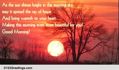sun shining bright   morning sky  good morning ecards