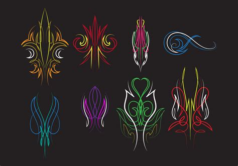 pinstripes ornament vectors download free vector art