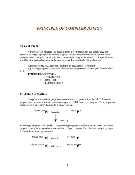compiler design tutorial notes compiler design nanthu