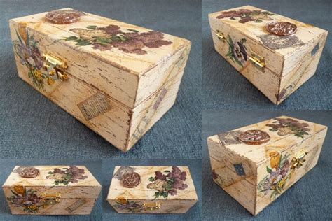 Decoupage Boxes - decoupage box 4 by pinterzsu on deviantart