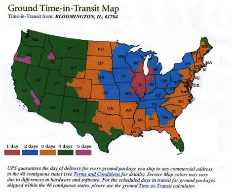 ups maps ups usa transit time us map cdoovision