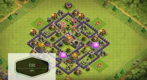 coc strong layout coc anti base town hall 7 hybrid th7 war farming