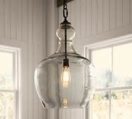 Pottery Barn Pendant Light Flynn Recycled Glass Pendant Pottery Barn