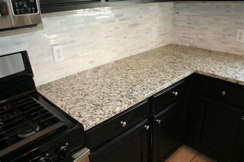 Glass Tile Kitchen Backsplash Ideas giallo fiesta granite countertop yelp