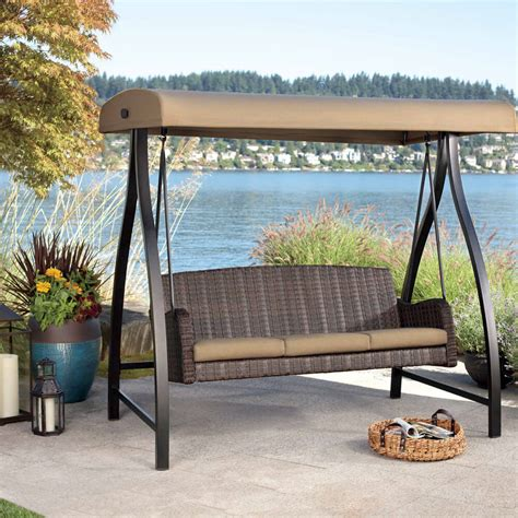2016 england style rattan garden swing with canopy outdoor best porch swing reviews guide the hammock expert